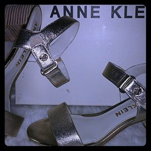 Anne Klein 2 1/2 inch Jackie Leather heeled sandal